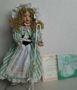 """Porcelain Doll Vtg Ashton Drake Little Bo Peep 15 """" COA Nursery Rhymes"""