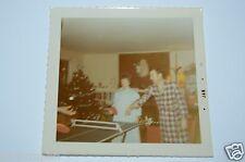 WOW Vintage 1971 Christmas Table Top Ping Pong Photo Photograph Rare