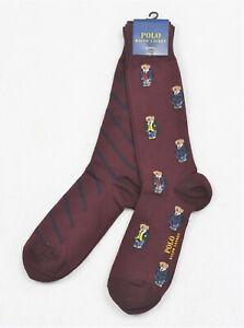 Polo Ralph Lauren Men's Bear Trouser 2-Pack Socks NWT
