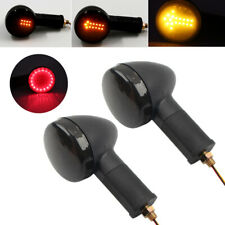 2x Universal Motorcycle LED Flowing Arrow Turn Signal Light w/ Tail Brake Lamp