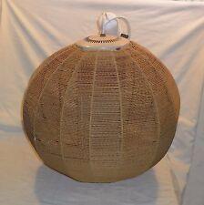 VINTAGE 1960 LAMP * BRAIDED GLOBE LAMP * WORK