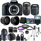 Canon EOS Rebel T7i 24.2MP DSLR Camera + 18-55mm + 70-300mm + 24GB Accessory Kit