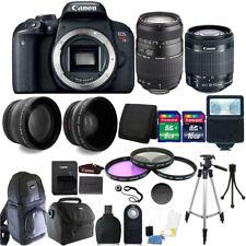 Canon EOS Rebel T7i 24.2MP DSLR Camera + 18-55mm + 70-300mm + 24GB Accessory Kit