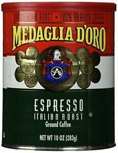 MEDAGLIA D'ORO Italian Roast Espresso Ground Coffee, 10 Ounces 10 Ounce