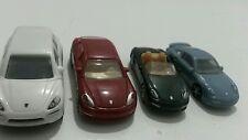 VINTAGE KINDER SURPRISE PORSCHE MODEL ROAD CARS SET 1:87 PLASTIC MINIATURES