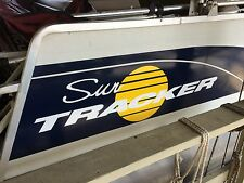 2-44 inch Sun tracker Pontoon Marine Vinyl white & yellow suntracker boat decals