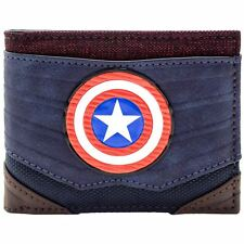 Official Marvel Captain America Textured Suit Blue ID & Card Bi-fold Wallet