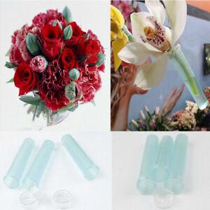 25Pcs Fresh Flower Water Tube Container Rose Carnation Lily Wedding Rhizome Tube