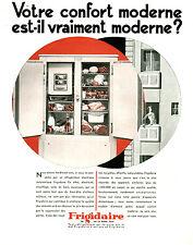 Publicité ancienne frigidaire confort moderne 1931 issue de magazine