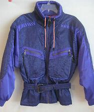 Vintage Womans Kaelin Ski Snow Jacket Parka Coat Size 8 Retro Purple And Pink
