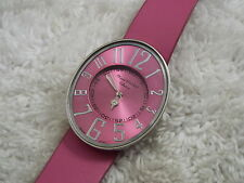 MARCEL DRUCKER Ladies Silvertone Pink Watch (A51)