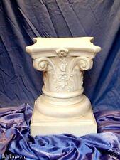 Statua Capitello Greco colonna Oxolite cm47 Portavaso