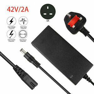42V 2A Battery Charger For 36V Li-on Battery Electric Bike Ebike Scooters UK