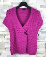 Ted Baker Ladies Size 3 Uk 12 Purple Nylon Angora Cardigan