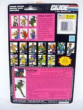GI JOE NUNCHUK FILE CARD Vintage Action Figure FULL / UNCUT / GOOD SHAPE 1992