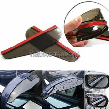 Black Car Side Rearview Mirror Rainproof Blade Shade Water Shield Eyebrows Cover
