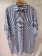 Polo Ralph Lauren Roundhill Blue Striped Short Sleeve Polo Shirt Size Xxl Nwt