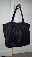 Vintage CHANEL Boutique Embossed Lamb Skin Leather Black Tote Bag Shoulder Bag