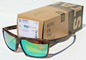 COSTA DEL MAR Rinconcito POLARIZED Sunglasses Matte Tortoise/Green Mirror 580P