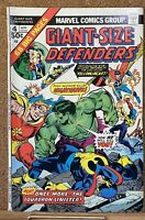 STAN LEE PRESENTS! 1975 GIANT SIZE DEFENDERS #4 5 MARVEL COMICS 1ST SERIES LOT!!
