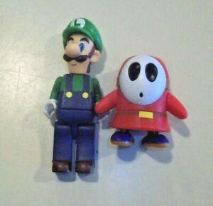 "K'Nex Nintendo Super Mario Brothers 2"" Figures ~ Luigi & Shy Guy"