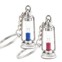 Simple Couples Hourglass Sand Timer Key Chain Key Ring Nautical Trinket Gift