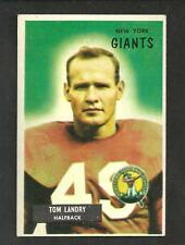 1955 BOWMAN FOOTBALL #152 TOM LANDRY  DALLAS COWBOYS NY GIANTS EX-MT NRMT?