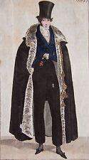 COSTUME PARISIEN, GRAVURE ORIGINALE DE 1823, COLORIS D'EPOQUE, n°2204