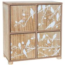 Cajas de almacenaje de color principal blanco de madera para el hogar