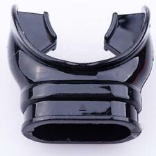 Black/Transparent Silicone Tabbed-Mouthpiece for Scuba Snorkel Diving Regulator/