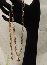 30'' Long Large Loops 18K Gold Plated Chain Free Shipping !