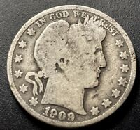 1909 O Barber Silver Half Dollar 50c Low Mintage Date Collectible US Type Coin