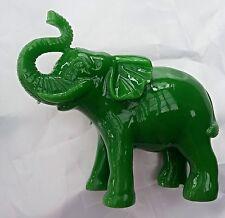 Lucky Green Charm Up Elephant Elephant Figurine