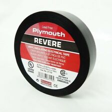 """Plymouth Rubber 3119 Revere Black 7 Mil Vinyl Electrical Tape 3/4"""" x 60'"""