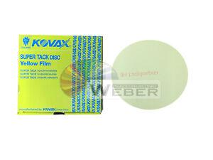 50 x Kovax YELLOW FILM P1500 Exzenterscheiben Schleifscheiben 152mm Ungelocht