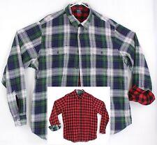 Tailor Vintage Connecticut Originals Reversible Plaid Long Sleeve Shirt XXL