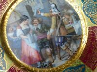 "STUNNING  ROYAL VIENNA STYLE ""merry men"" Hand painted 9 5/8"" Mint"