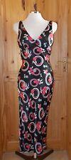 NEW LOOK black pink grey satin floral asymmetric fairy hem party summer dress 12