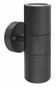 LED Double Outdoor Garden Wall Lights Stainless Steel Up Down Wall Lights IP65