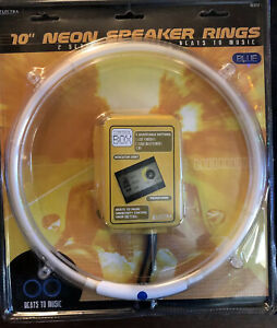 """2 Pack 10"""" Neon Speaker Rings Beats To The Music Blue"""