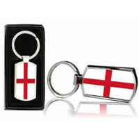 England Country Flag Printed Chrome Metal Keyring With Free Gift Box 0208
