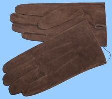 NEW MENS size 8.5 or Medium BROWN PIG SUEDE LEATHER UNLINED GLOVES shade10507