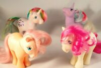 My Little Pony G1 DAFFODIL, WINDY, PEACHY & POWDER 1982 / 83 / 84