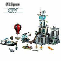 NEW 815Pcs City Police Prison Island 60130 Set Model Building Blocks Bricks Toys