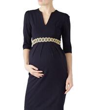 Madderson London Navy blue Nadine brocade Maternity dress sz M