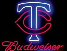 "Budweiser Minnesota Twins MLB Beer Neon Sign 17""x14"" Ship From USA"