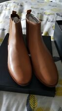 COUNTRY ROAD ISABELLA GUSSET BOOTS - LEATHER  IN TAN - RRP $199.00 SIZE 38 BNIB