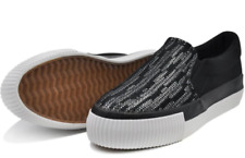 Tanggo Carlyne Fashion Sneakers Slip-On Wome's Rubber Shoes (black)
