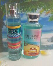 bath and body works endless weekend shower gel and fine fragrance mist set