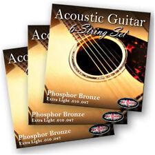 More details for 3 packs adagio pro acoustic guitar strings - gauges 10, 11 or 12 phosphor bronze